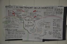 """Relatoria visual de la taula: """"Ètica i el tractament de la informació social als mitjans de comunicació"""""""